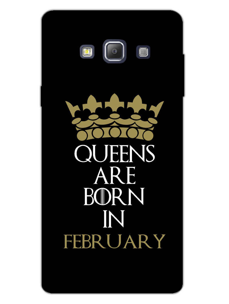 Queens February Samsung Galaxy A7 2015 Mobile Cover Case - MADANYU