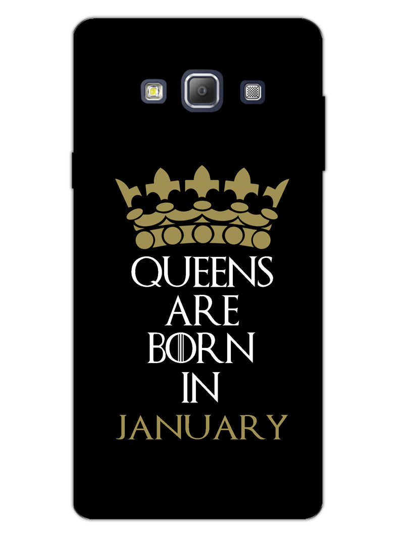 Queens January Samsung Galaxy A7 2015 Mobile Cover Case