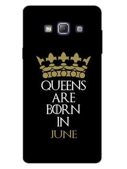 Queens June Samsung Galaxy A7 2015 Mobile Cover Case