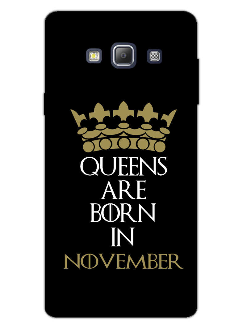 Queens November Samsung Galaxy A7 2015 Mobile Cover Case