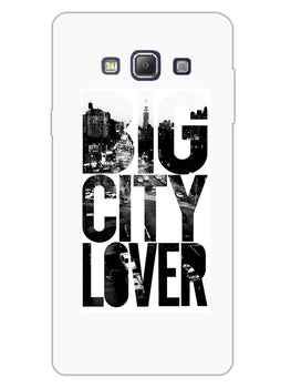 Big City Lover Dreamer Quote Samsung Galaxy A7 2015 Mobile Cover Case
