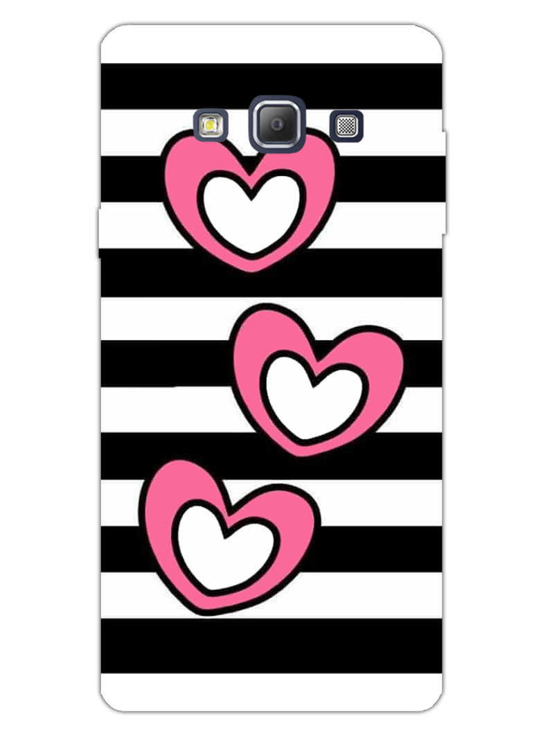 Three Hearts Samsung Galaxy A7 2015 Mobile Cover Case - MADANYU