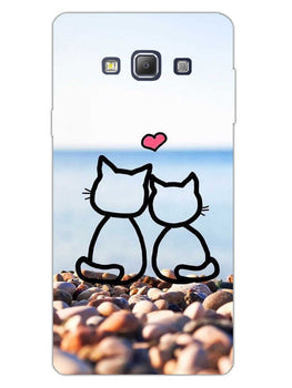 Cat Couple Samsung Galaxy A7 2015 Mobile Cover Case