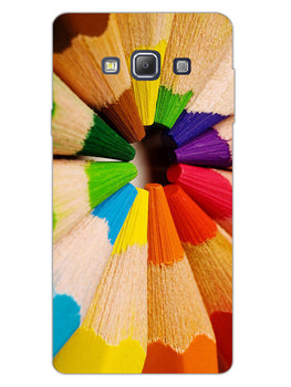Rainbow Sticks Art Samsung Galaxy A7 2015 Mobile Cover Case