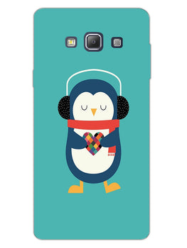 Cute Penguin Fall In Love Samsung Galaxy A7 2015 Mobile Cover Case