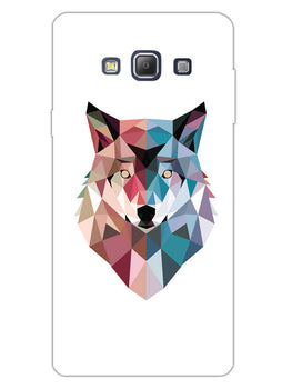 Geometric Wolf Poly Art Samsung Galaxy A7 2015 Mobile Cover Case