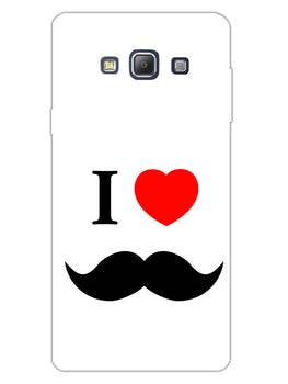 I Love Mustache Style Samsung Galaxy A7 2015 Mobile Cover Case
