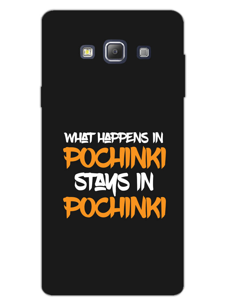 Pochinki Stays In Pochinki Pub G Quote Samsung Galaxy A7 2015 Mobile Cover Case
