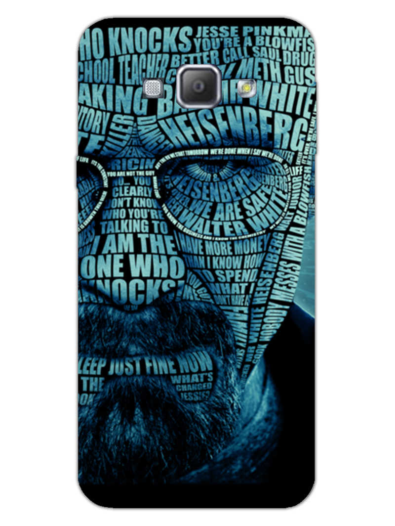 Heisenberg Typography Samsung Galaxy A8 2015 Mobile Cover Case