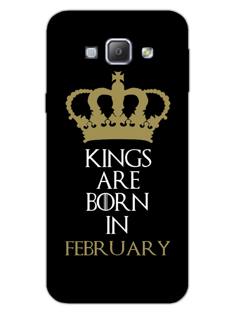 Kings February Samsung Galaxy A8 2015 Mobile Cover Case