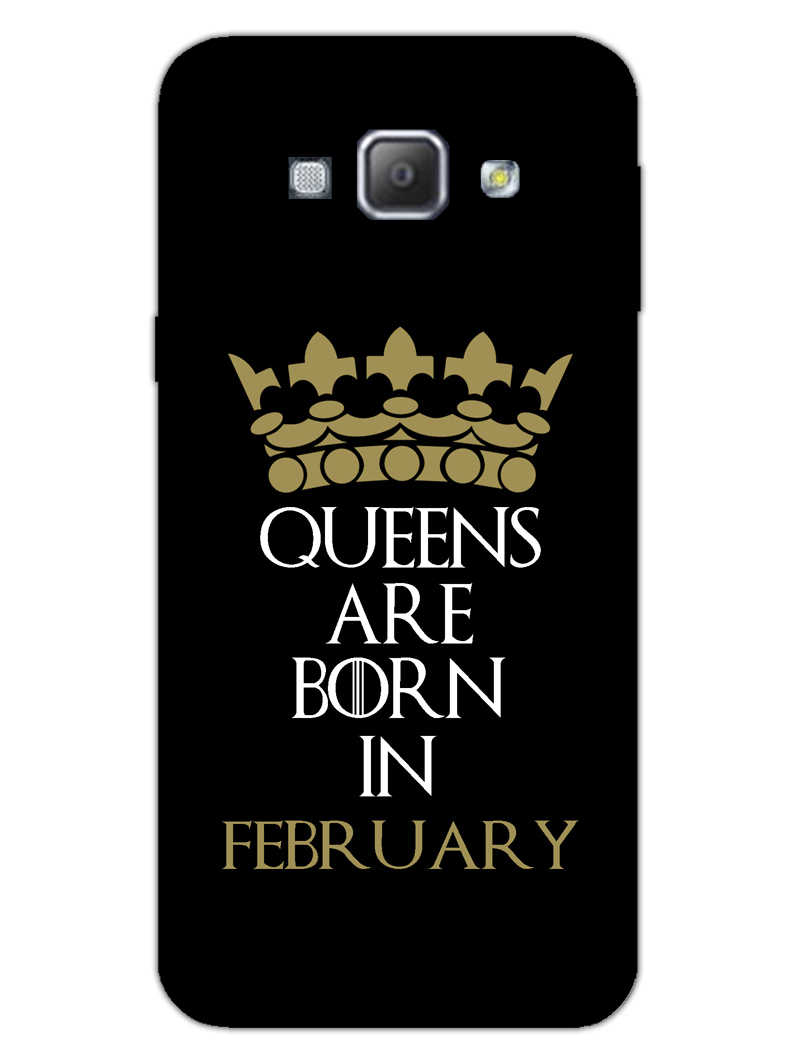 Queens February Samsung Galaxy A8 2015 Mobile Cover Case