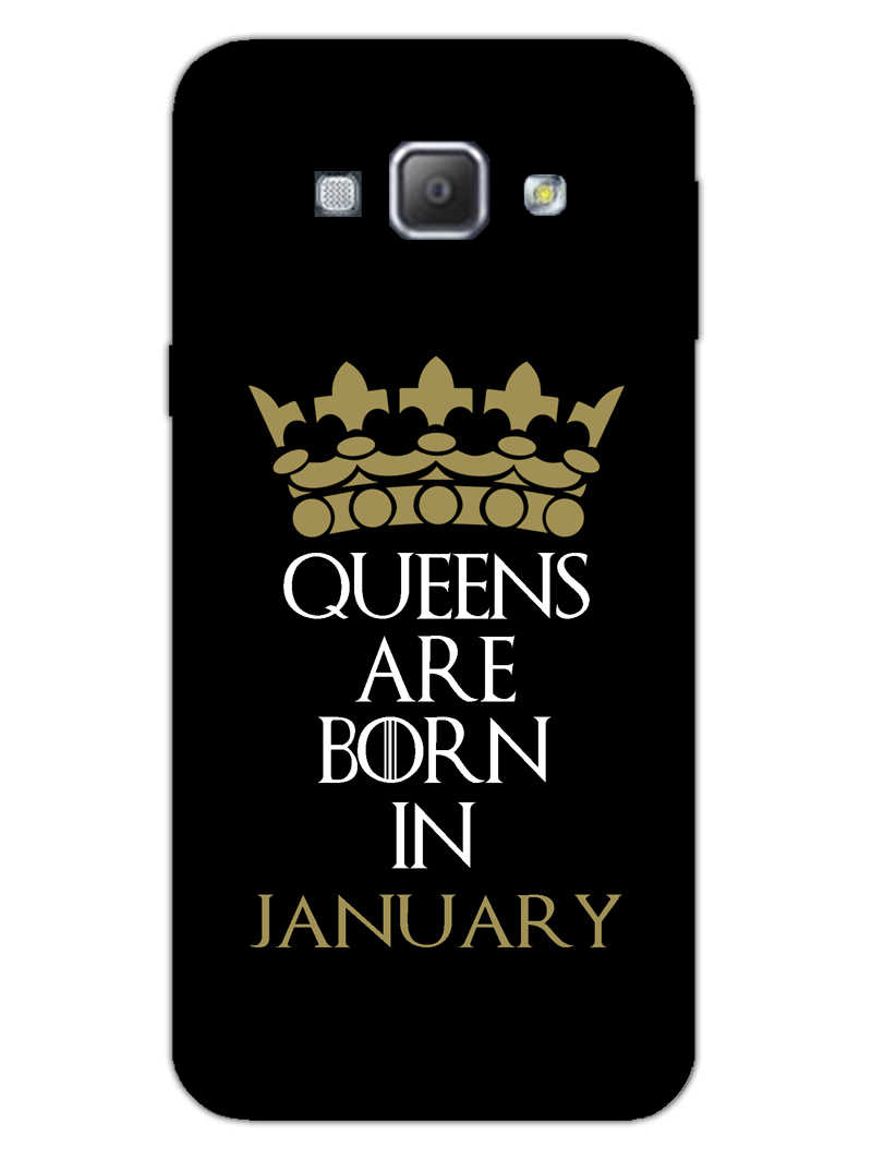 Queens January Samsung Galaxy A8 2015 Mobile Cover Case