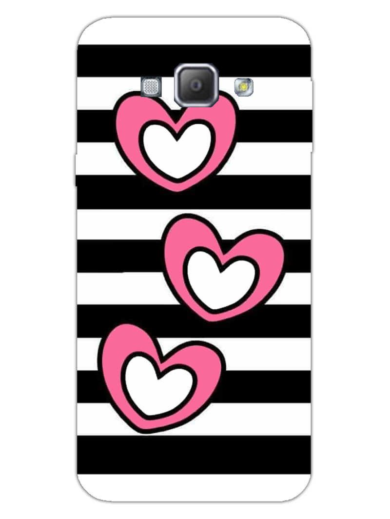 Three Hearts Samsung Galaxy A8 2015 Mobile Cover Case - MADANYU