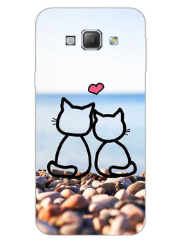 Cat Couple Samsung Galaxy A8 2015 Mobile Cover Case