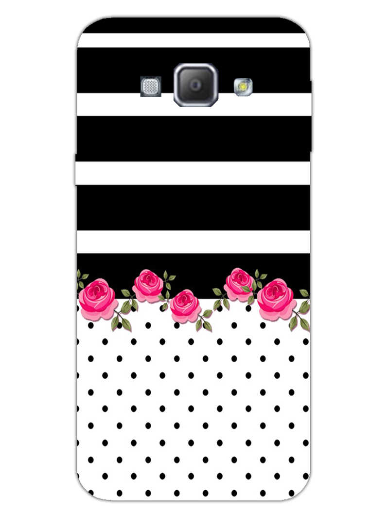 Rose Polka Stripes Samsung Galaxy A8 2015 Mobile Cover Case