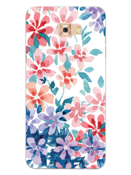 Floral Art Samsung Galaxy C7 Pro Mobile Cover Case