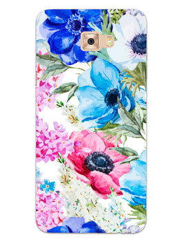 Hand Painted Floral Samsung Galaxy C7 Pro Mobile Cover Case