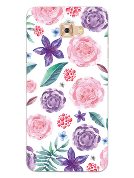 Floral Pattern Samsung Galaxy C7 Pro Mobile Cover Case