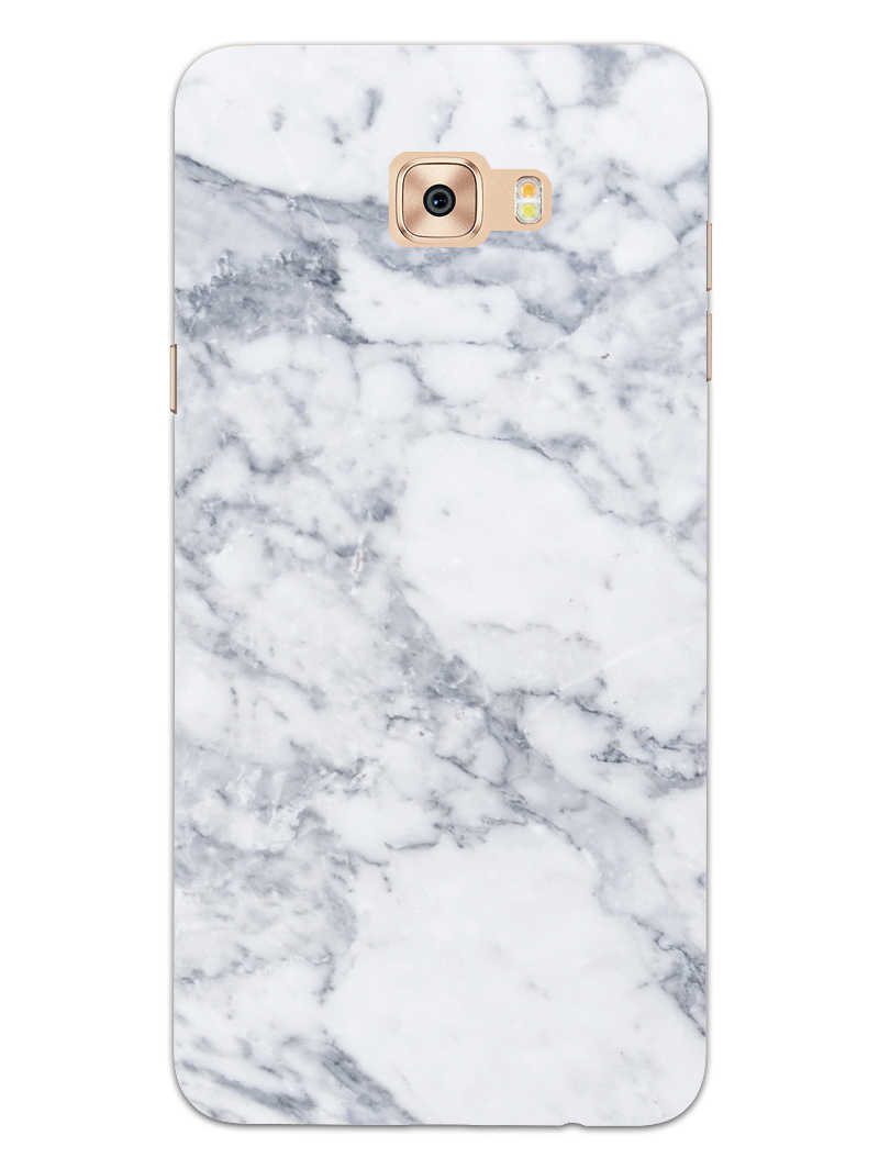 Chic White Marble Samsung Galaxy C7 Pro Mobile Cover Case - MADANYU