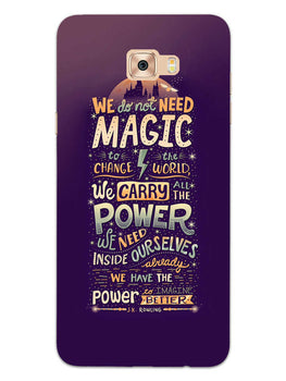 Harry Potter Quote Samsung Galaxy C7 Pro Mobile Cover Case