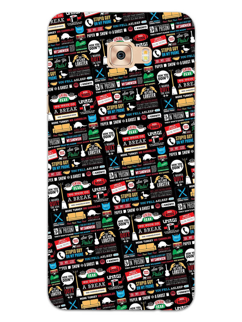 FRIENDS Samsung Galaxy C7 Pro Mobile Cover Case - MADANYU