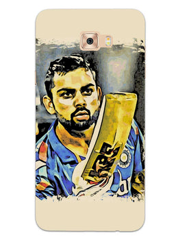 Kohli Bat Kiss Samsung Galaxy C7 Pro Mobile Cover Case