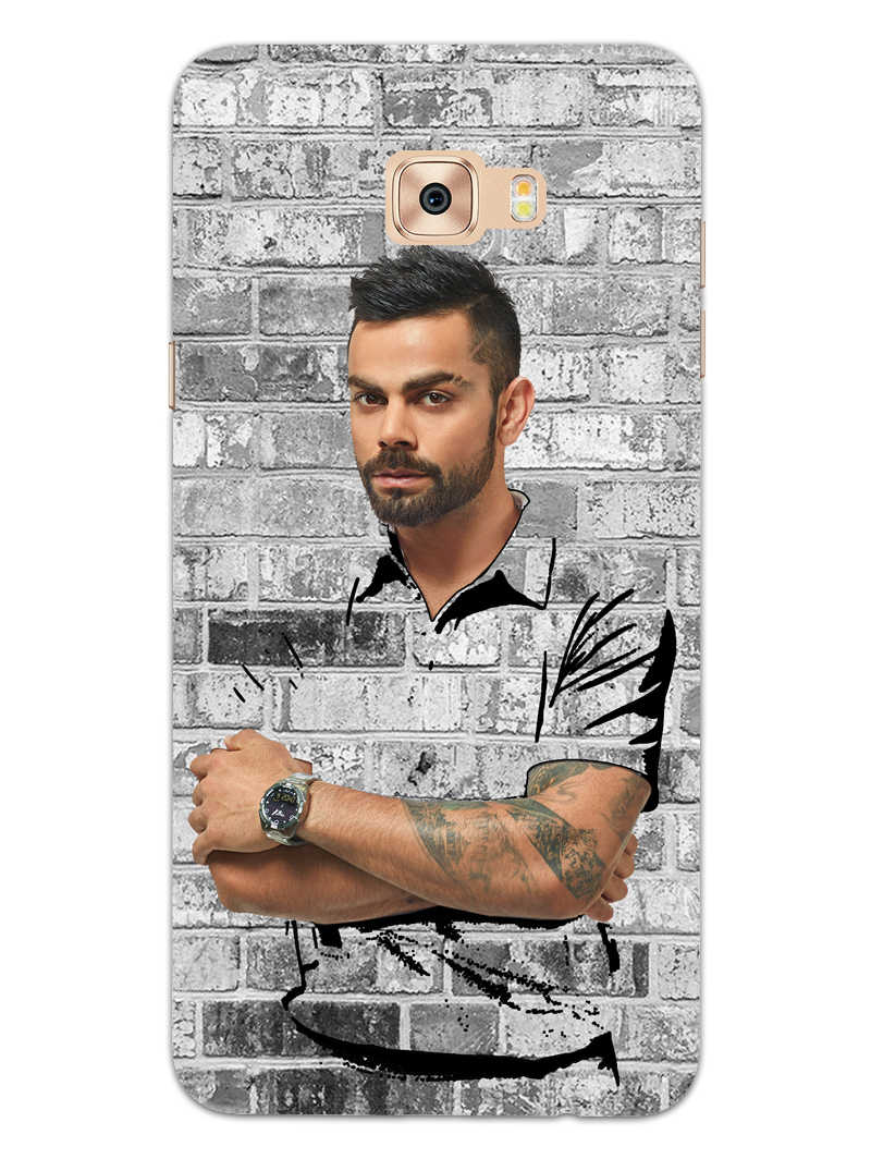 The Wall Of Kohli Samsung Galaxy C7 Pro Mobile Cover Case - MADANYU