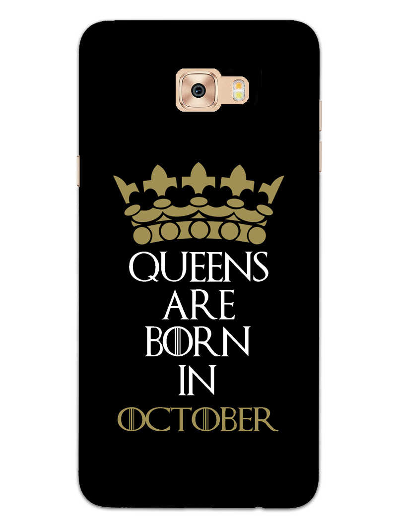 Queens October Samsung Galaxy C7 Pro Mobile Cover Case - MADANYU