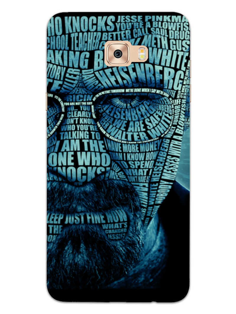 Heisenberg Typography Samsung Galaxy C9 Pro Mobile Cover Case