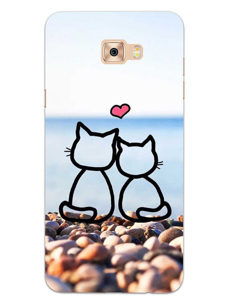 Cat Couple Samsung Galaxy C9 Pro Mobile Cover Case