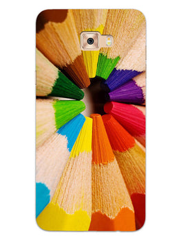 Rainbow Sticks Art Samsung Galaxy C9 Pro Mobile Cover Case