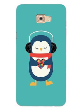 Cute Penguin Fall In Love Samsung Galaxy C9 Pro Mobile Cover Case