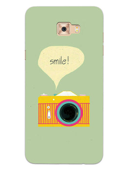 Smile Vintage Camera Samsung Galaxy C9 Pro Mobile Cover Case