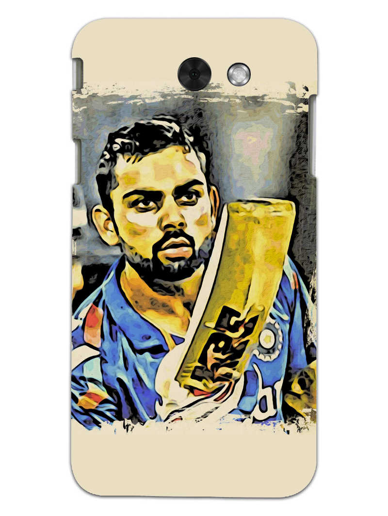 Kohli Bat Kiss Samsung Galaxy J3 2017 Mobile Cover Case - MADANYU