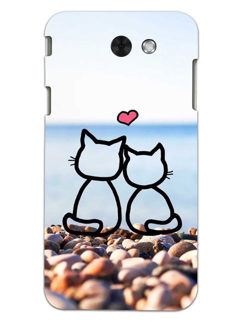 Cat Couple Samsung Galaxy J3 2017 Mobile Cover Case - MADANYU