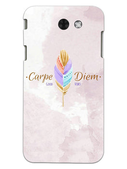 Carpe Diem Good Vibes Colorful Feather Samsung Galaxy J3 2017 Mobile Cover Case