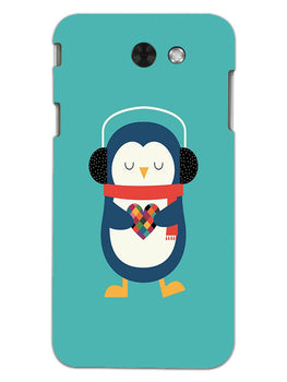 Cute Penguin Fall In Love Samsung Galaxy J3 2017 Mobile Cover Case