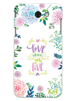 Love Where You Live Floral Samsung Galaxy J3 2017 Mobile Cover Case