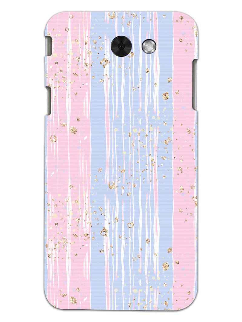 Pink And Blue Shade Lines Samsung Galaxy J3 2017 Mobile Cover Case - MADANYU