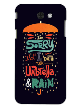 Umbrella And Rain Rainny Quote Samsung Galaxy J3 2017 Mobile Cover Case