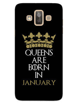 Queens January Samsung Galaxy J7 Duo Mobile Cover Case