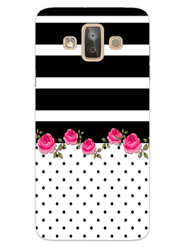 Rose Polka Stripes Samsung Galaxy J7 Duo Mobile Cover Case