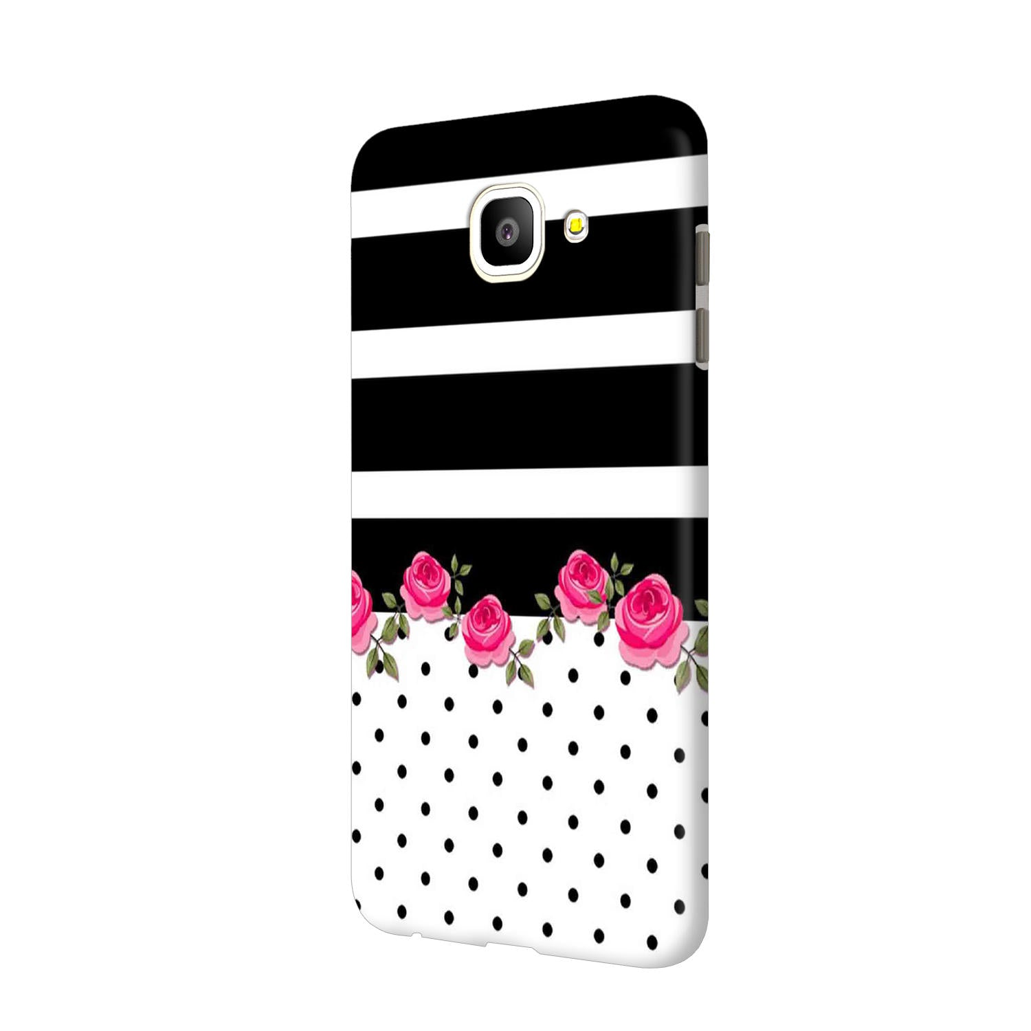 Rose Polka Stripes Samsung Galaxy J7 Max Mobile Cover Case - MADANYU