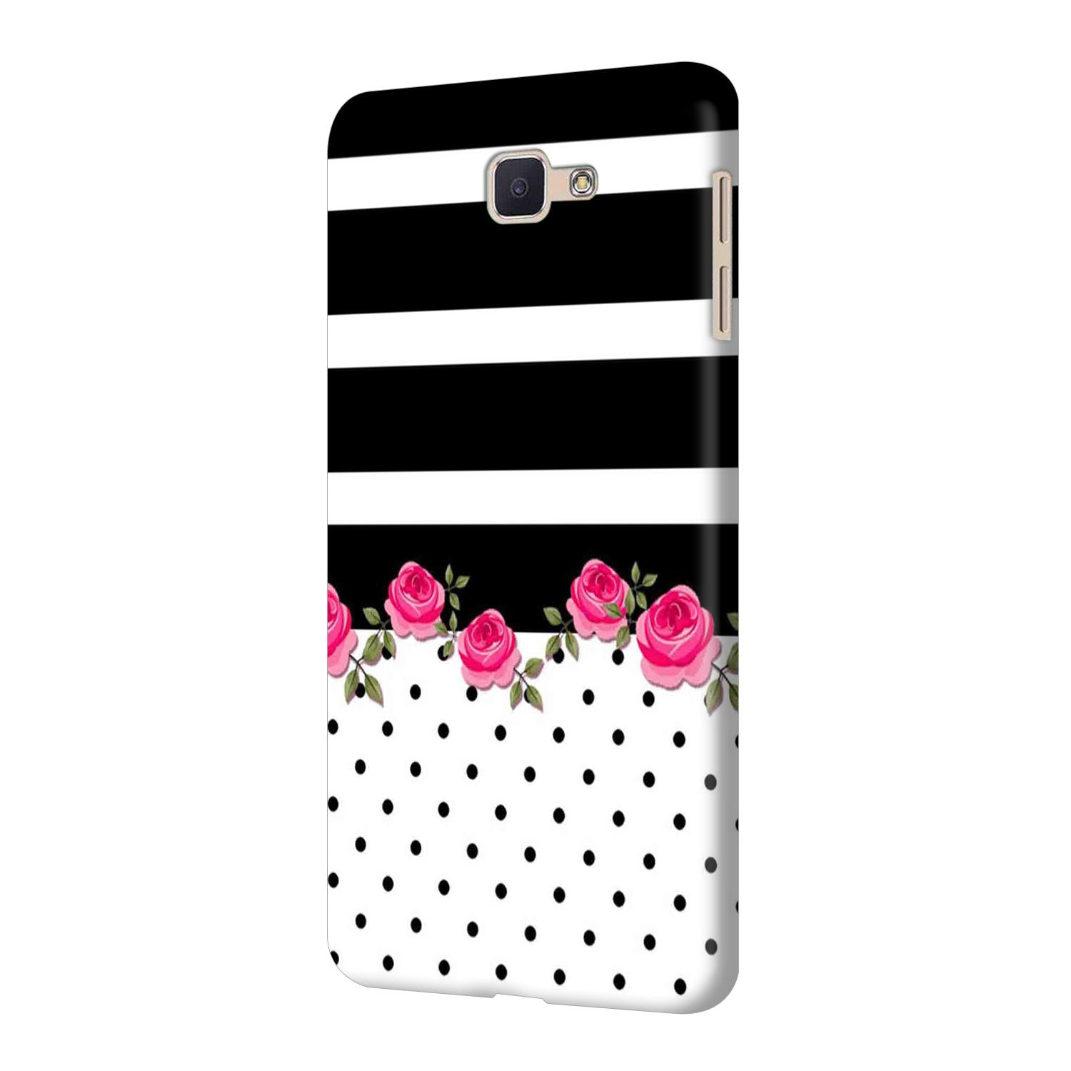Rose Polka Stripes Samsung Galaxy J7 Prime Mobile Cover Case - MADANYU