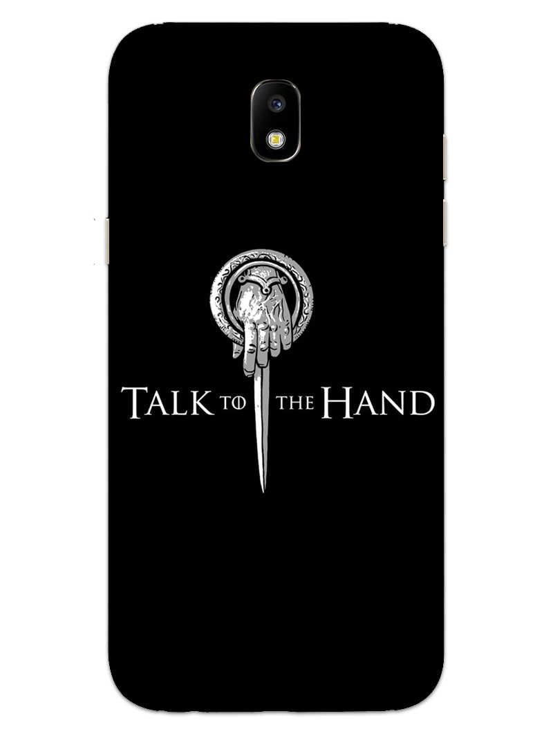 Talk To Hand Samsung Galaxy J7 Pro Mobile Cover Case - MADANYU