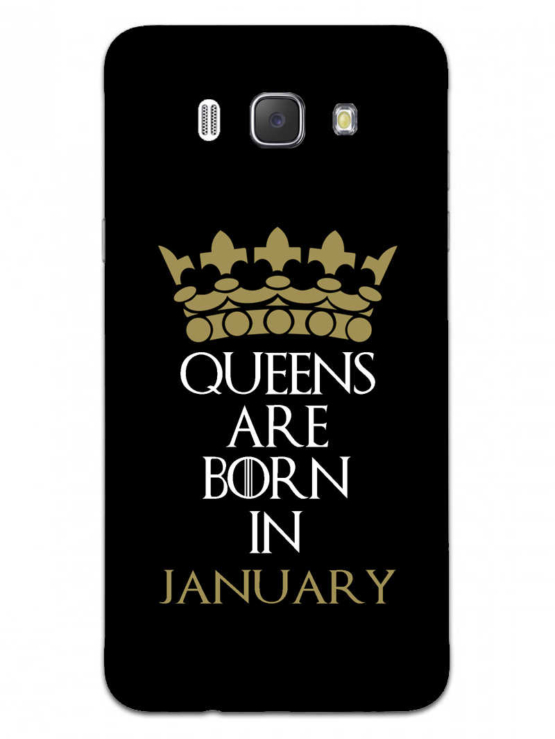 Queens January Samsung Galaxy J7 2016 Mobile Cover Case - MADANYU