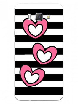 Three Hearts Samsung Galaxy J7 2016 Mobile Cover Case