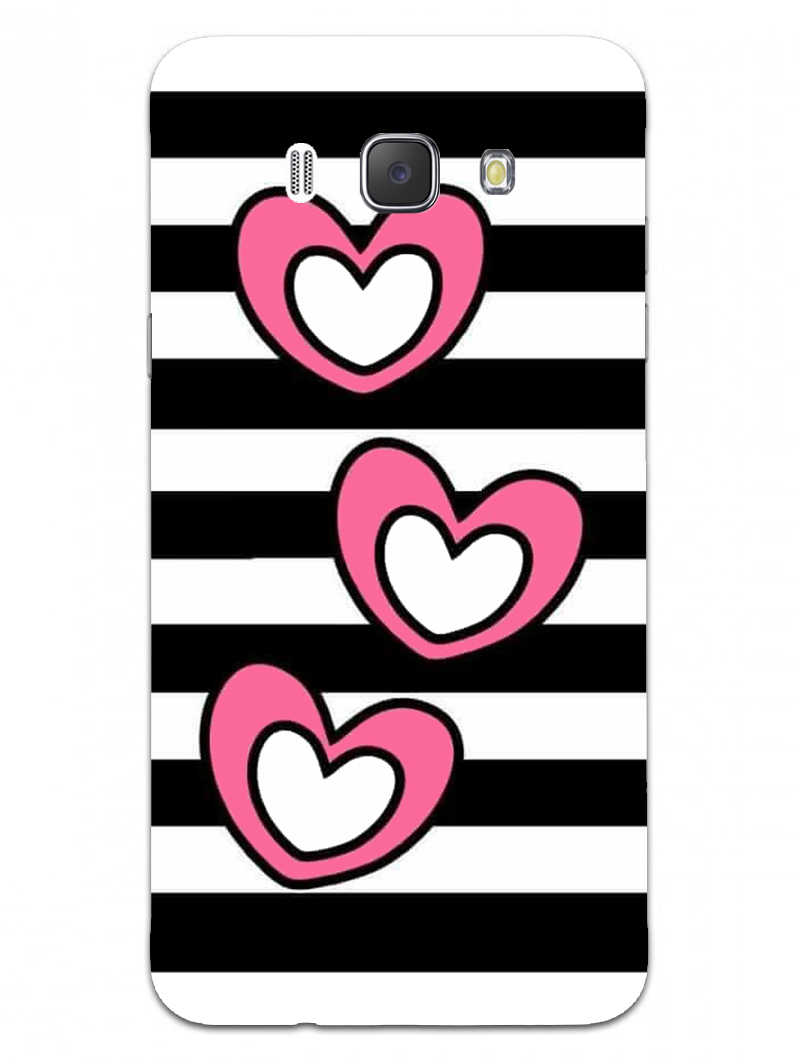 Three Hearts Samsung Galaxy J7 2016 Mobile Cover Case - MADANYU