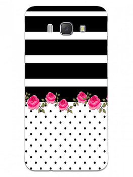 Rose Polka Stripes Samsung Galaxy J7 2016 Mobile Cover Case
