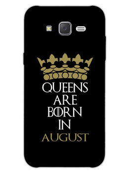 Queens August Samsung Galaxy J7 2015 Mobile Cover Case